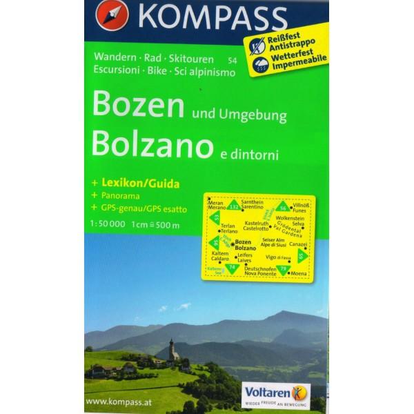 kompass-54-bozen-bolzano-1-50-000-turisticka-mapa
